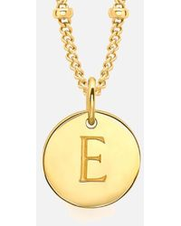 Missoma - Gold 'e' Initial Necklace - Lyst