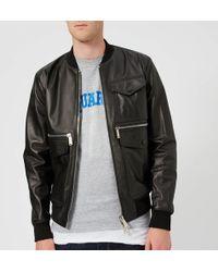DSquared² - Lamb Leather Jacket - Lyst