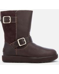 UGG - Women's Breida Waterproof Leather Biker Boots - Lyst