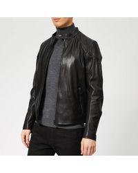 Belstaff - Leather Racer Jacket - Lyst