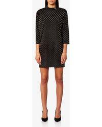 Marc Jacobs - Women's Mock Neck 3/4 Sleeve Dress With Embellishments - Lyst
