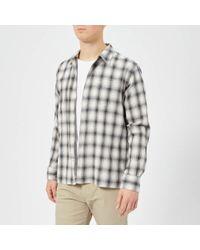 Officine Generale - Officine Générale Men's Japanese Check Shirt - Lyst