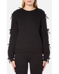 Sportmax Code - Sportmax Women's Zeda Bow Sleeve Sweatshirt - Lyst