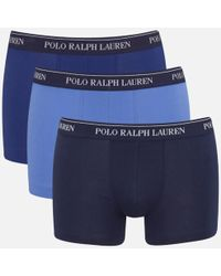Polo Ralph Lauren - Men's 3 Pack Trunk Boxer Shorts - Lyst
