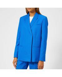 Victoria, Victoria Beckham - Women's Fluid Wool Twill Tailored Jacket - Lyst