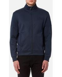 BOSS Green - Men's Skaz Zipped Sweatshirt - Lyst