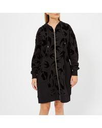 McQ - Women's Cut Up Short Sleeve Zip Through Sweatshirt - Lyst