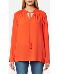 MICHAEL Michael Kors - Women's Embroidered Long Sleeve Top - Lyst
