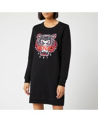 8c5eab22 KENZO - Classic Tiger Moleton Sweat Dress - Lyst