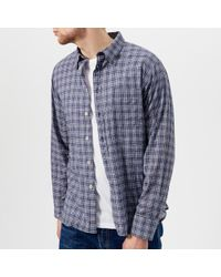 Universal Works | Men's Alex Fine Check Long Sleeve Shirt | Lyst