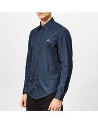Vivienne Westwood - Men's Firm Poplin Classic Extra Slim Long Sleeve Shirt - Lyst