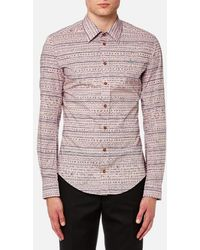 Vivienne Westwood   Men's Stretch Poplin Isabel Print Classic Shirt   Lyst