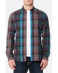 PS by Paul Smith - Men's Tailored Fit Checked Long Sleeve Shirt - Lyst