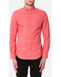 Polo Ralph Lauren - Men's Slim Fit Garment Dye Shirt - Lyst