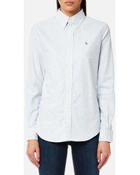 Polo Ralph Lauren Harper Long Sleeve Shirt in Pink - Lyst b8ebd6874eeb