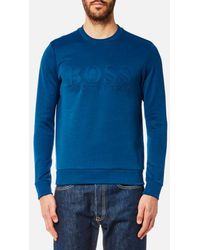 BOSS Green - Men's Salbo Large Logo Sweatshirt - Lyst