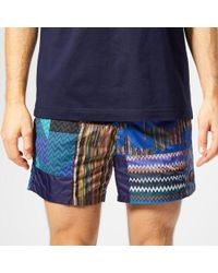 Missoni - Men's Patchwork Swim Shorts - Lyst