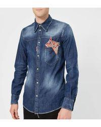 DSquared² - Stretch Denim Fashion Western Shirt - Lyst