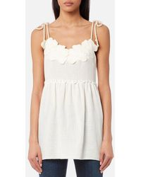 See By Chloé - Women's Embellished Cheesecloth Top - Lyst