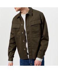 Universal Works | Men's Cotton Twill Overshirt | Lyst