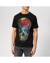 PS by Paul Smith - Regular Fit Skull T-shirt - Lyst