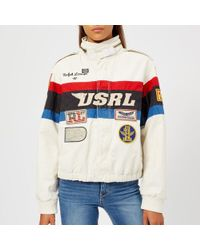 Polo Ralph Lauren - Women's Racing Bomber Jacket - Lyst