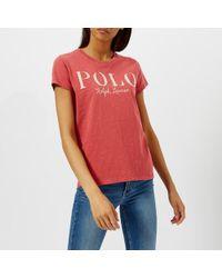 Polo Ralph Lauren - Women's Polo Logo Tshirt - Lyst