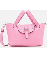 meli melo Thela Mini Tote Bag With Studs - Pink