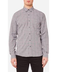 Michael Kors - Slim Fit Flannel Open Check Bd Long Sleeve Shirt - Lyst