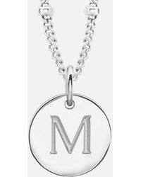 Missoma - Women's Initial Charm Necklace M - Lyst