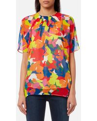 PS by Paul Smith - Women's Camouflage Print Top - Lyst