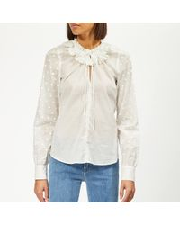 See By Chloé Voile Dotted Blouse