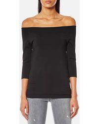 c1ba35d9fe9 Lyst - Helmut Lang Women's Crinkle Pleated Top - Black - Size Small ...