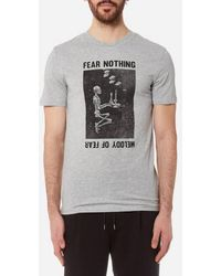 McQ Alexander McQueen | Men's Short Sleeve Fear Nothing Tshirt | Lyst