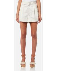 Marc Jacobs - Women's Pleated High Waist Shorts With Belt - Lyst