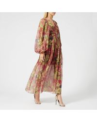 Zimmermann - Melody Wrap Long Dress - Lyst