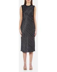DKNY - Women's Sleeveless Slip Dress With Seaming Detail - Lyst