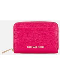 MICHAEL Michael Kors - Women's Zip Around Card Case - Lyst