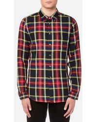 PS by Paul Smith - Men's Checked Long Sleeve Shirt - Lyst
