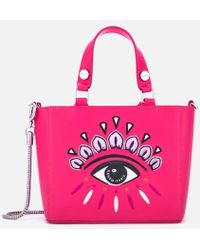 KENZO - Women's Eye Embroidery Tote Bag - Lyst