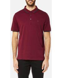 Michael Kors - Men's Greenwich Logo Jacquard Short Sleeve Polo Shirt - Lyst