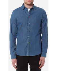 PS by Paul Smith - Men's Long Sleeve Denim Shirt - Lyst
