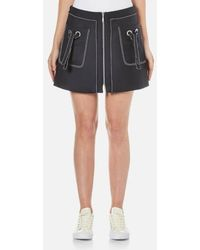 KENZO - Women's Cotton Wool Blend Skirt With Pockets - Lyst