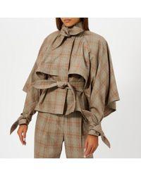 Zimmermann - Women's Unbridled Cape Tie Jacket - Lyst