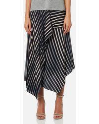 Diane von Furstenberg - Women's Draped Asymmetric Midi Skirt - Lyst