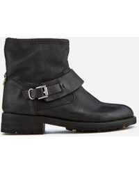 H by Hudson - Women's Mac Leather Biker Boots - Lyst