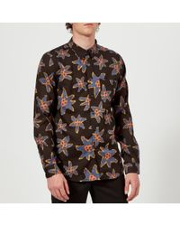 PS by Paul Smith - Men's Tailored Long Sleeve Floral Shirt - Lyst