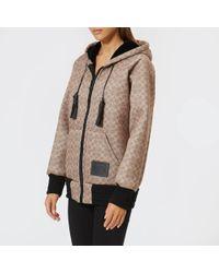 COACH - Zipped Hooded Sweatshirt - Lyst