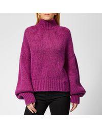 HUGO - Sacia Oversized Knitted Jumper - Lyst