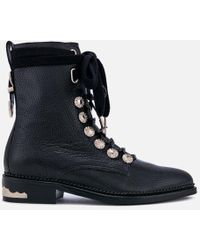 73e3acdb982e Jimmy Choo Method 65 Grainy Leather Ankle Boots in Black - Lyst
